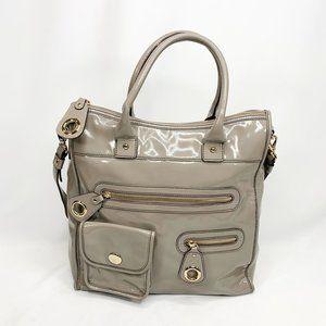 KATE SPADE Grey Patent Leather Shoulder Bag